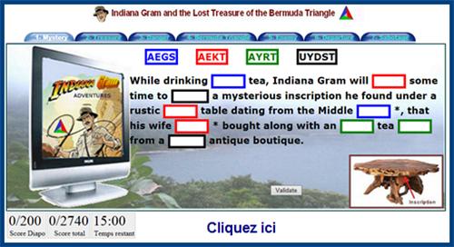 Indy est aussi disponible avec un jeu en anglais.